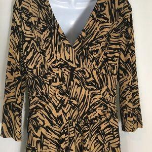 SNAP 3/4  sleeve Swing Skirt Dress NWT